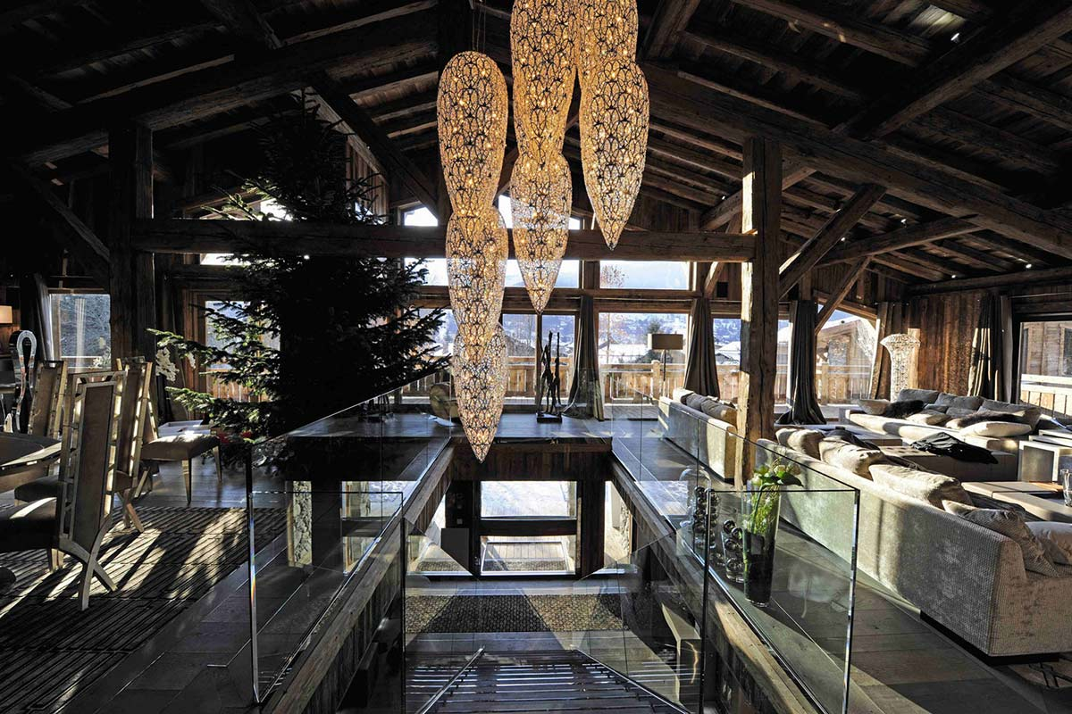 Lighting, Stairs, Chalet Brikell, Rhone-Alpes by Pure Concept