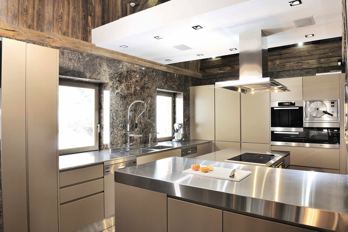 Kitchen, Chalet Brikell, Rhone-Alpes by Pure Concept