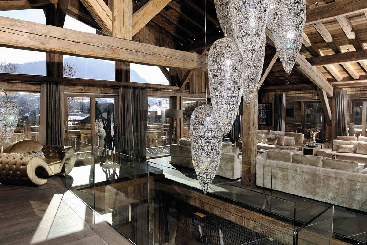 Lighting, Beams, Living Space, Chalet Brikell, Rhone-Alpes by Pure Concept