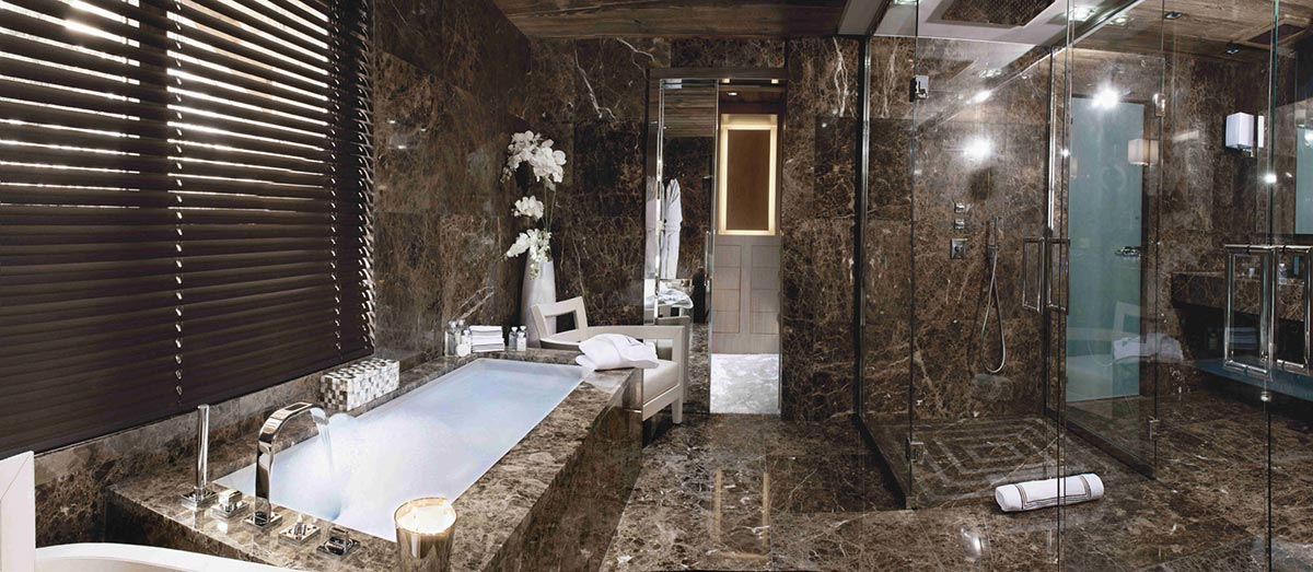 Marble Bathroom, Chalet Brikell, Rhone-Alpes by Pure Concept