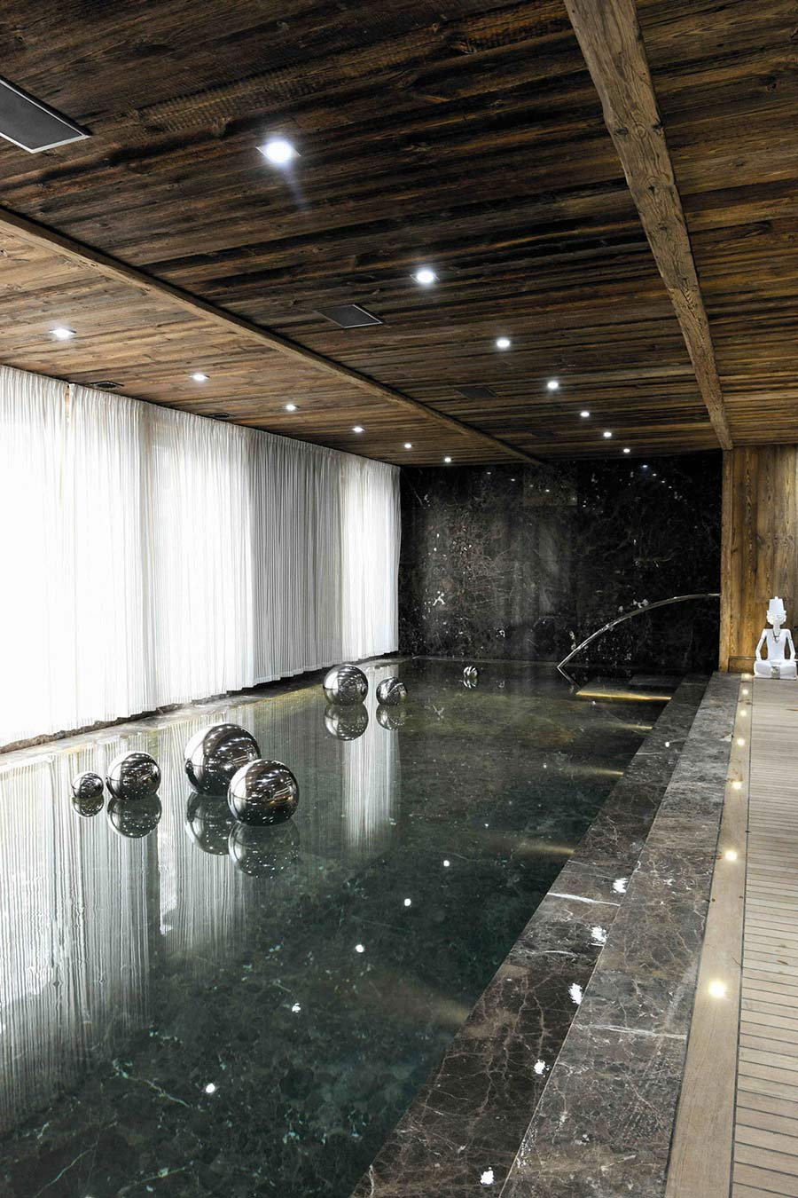 Marble Pool, Chalet Brikell, Rhone-Alpes by Pure Concept