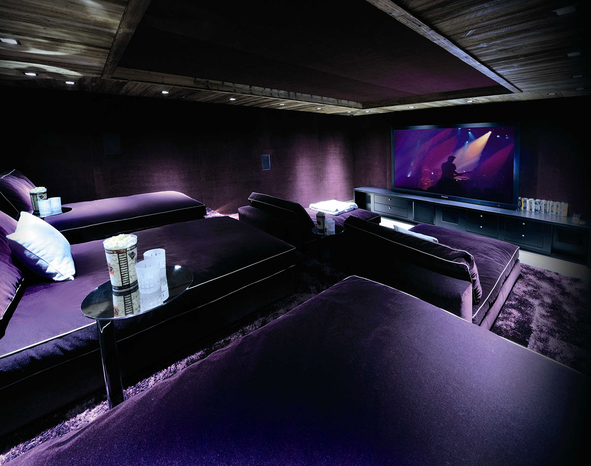 Cinema Room, Chalet Brikell, Rhone-Alpes by Pure Concept