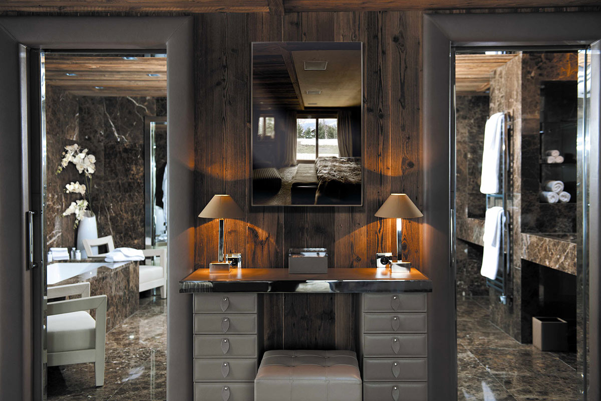 Vanity Table, Bedroom, Bathroom, Chalet Brikell, Rhone-Alpes by Pure Concept