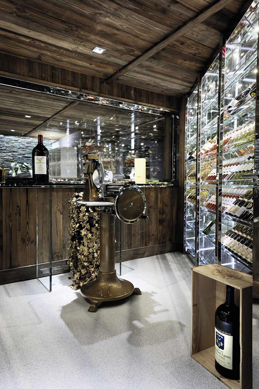 Wine Room, Chalet Brikell, Rhone-Alpes by Pure Concept
