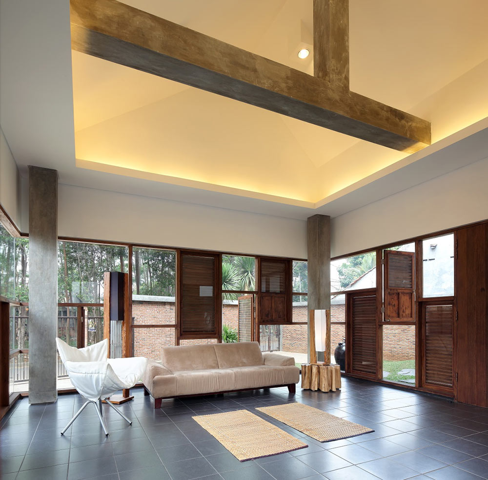 Living Space, Distort House, Jakarta by TWS & Partners