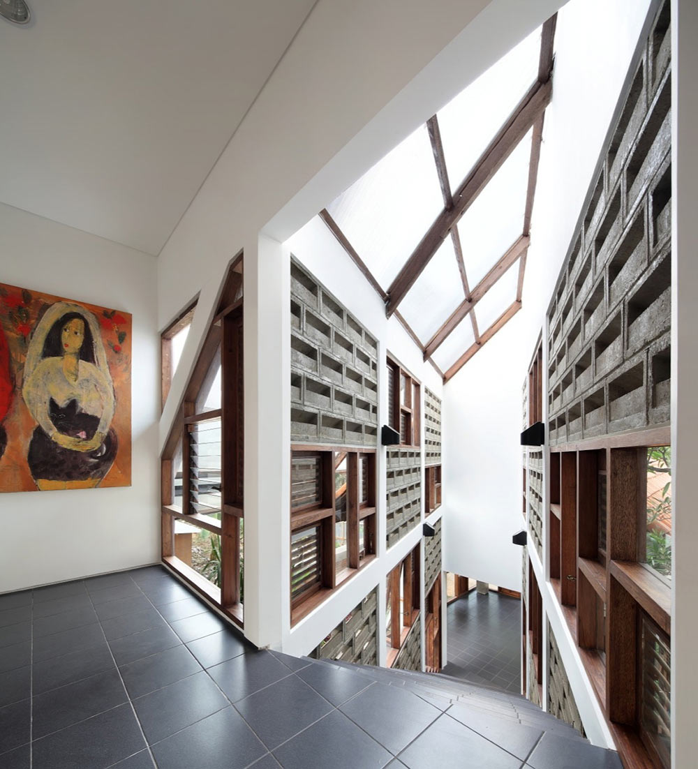 Stairs, Distort House, Jakarta by TWS & Partners