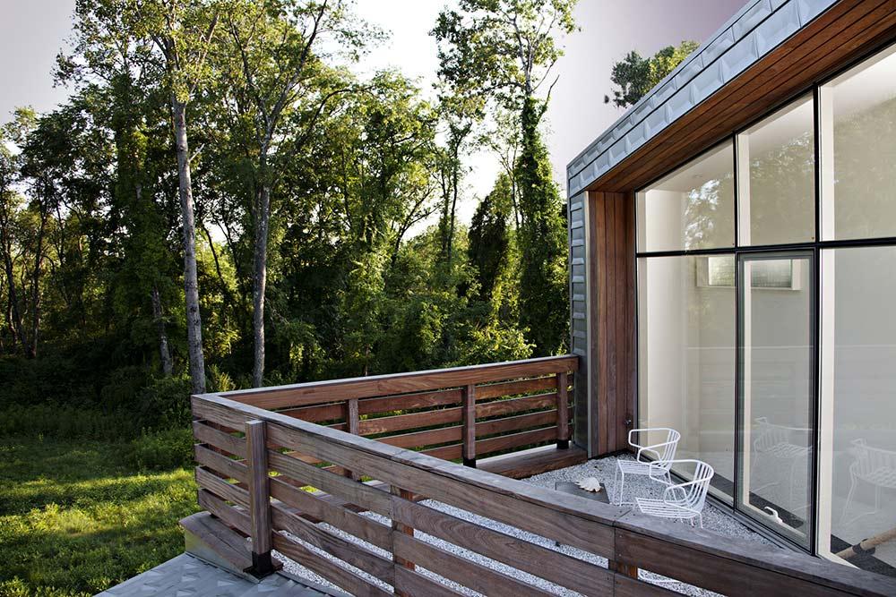 Balcony, Dutchess House No. 1, New York by Grzywinski+Pons
