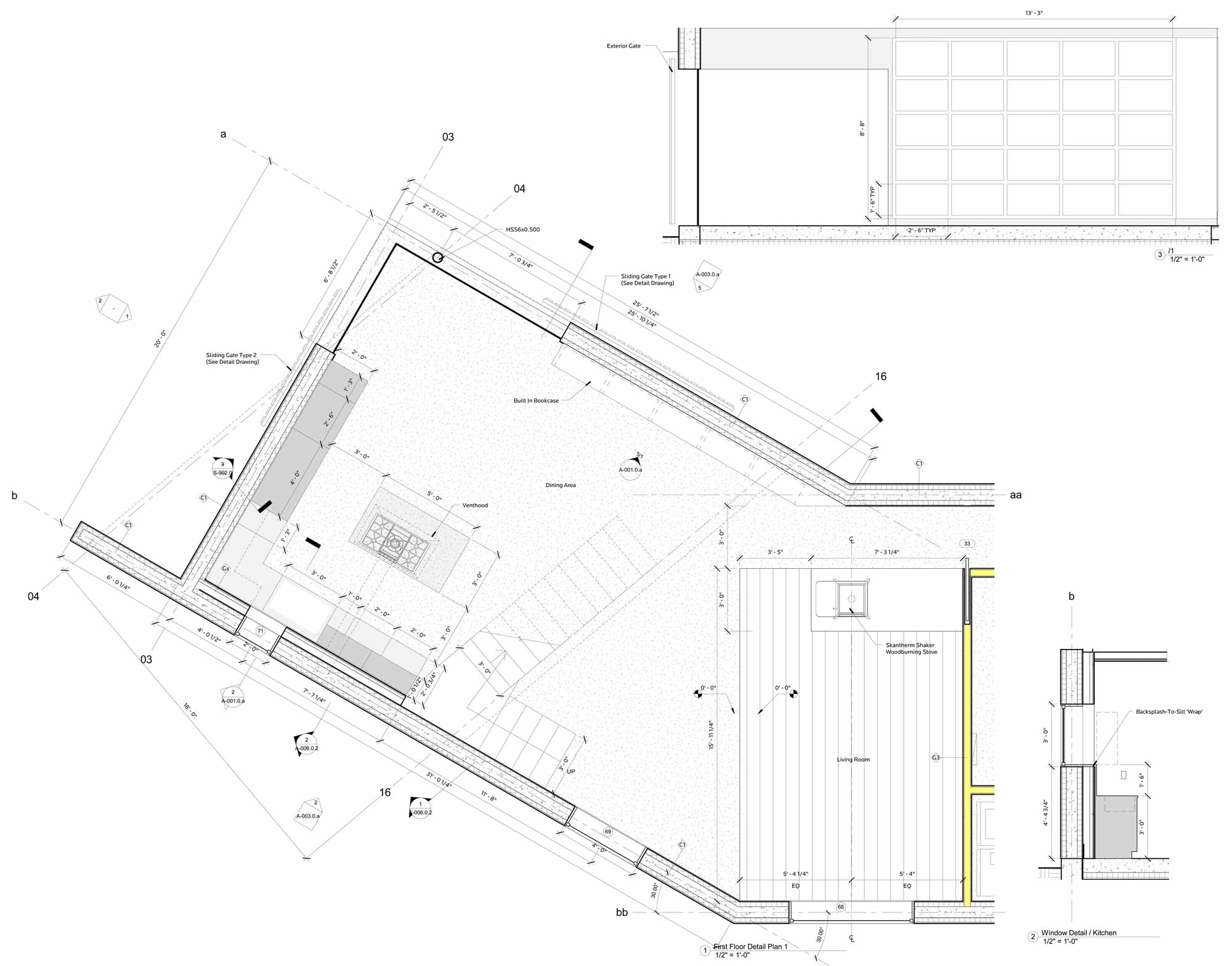 First Floor Plan, Dutchess House No. 1, New York by Grzywinski+Pons