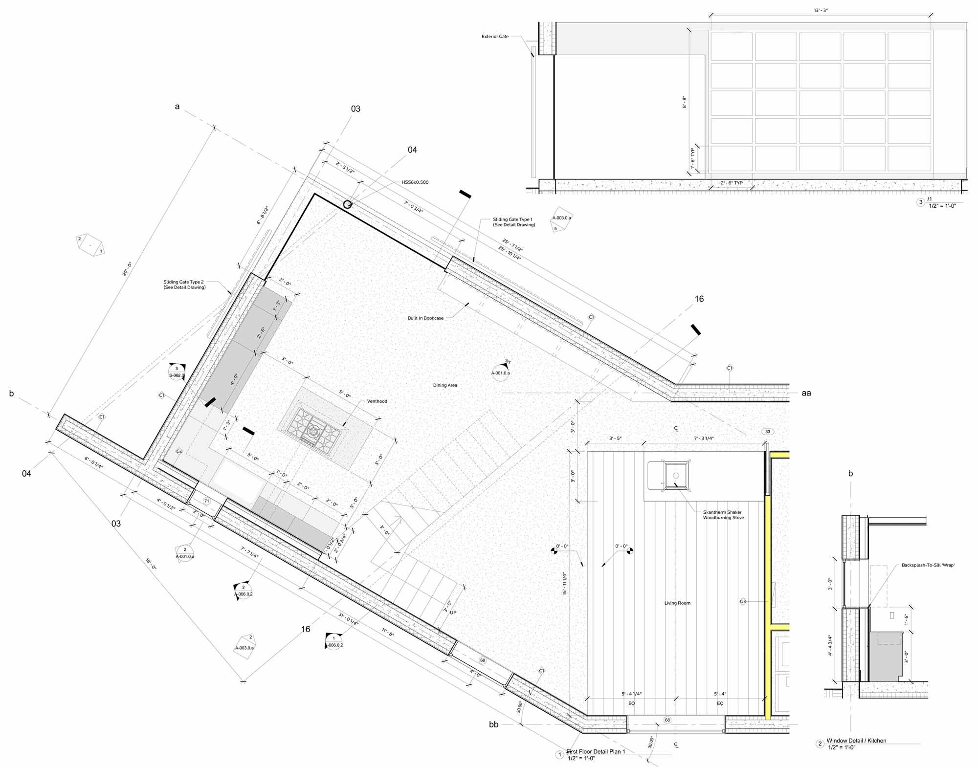 First Floor Plan, Dutchess House No. 1, New York by Grzywinski+Pons