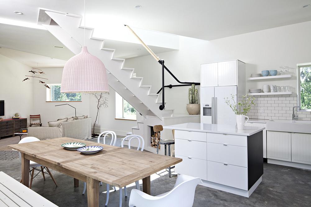 Kitchen, Dining, Living, Dutchess House No. 1, New York by Grzywinski+Pons