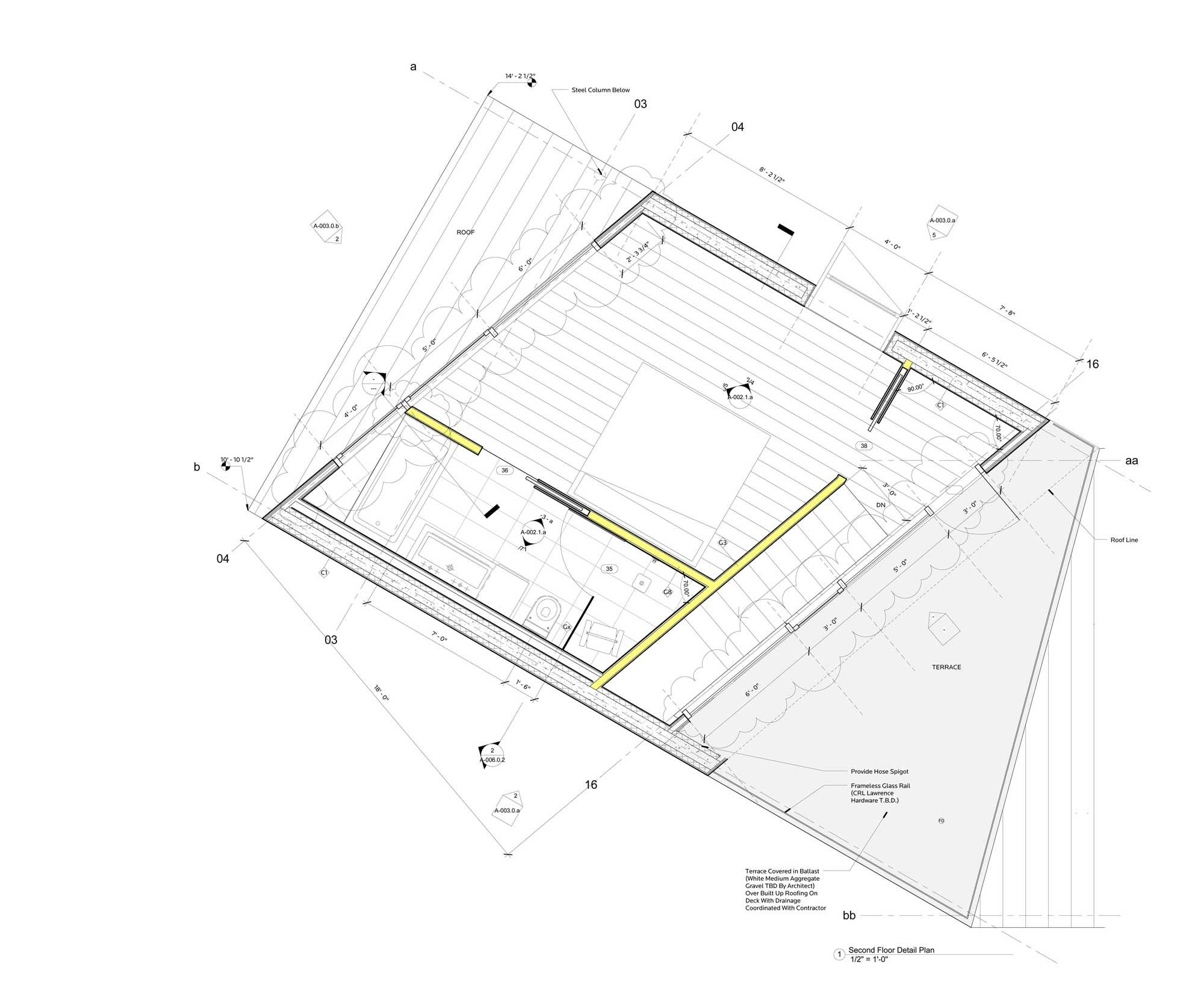 Second Floor Plan, Dutchess House No. 1, New York by Grzywinski+Pons