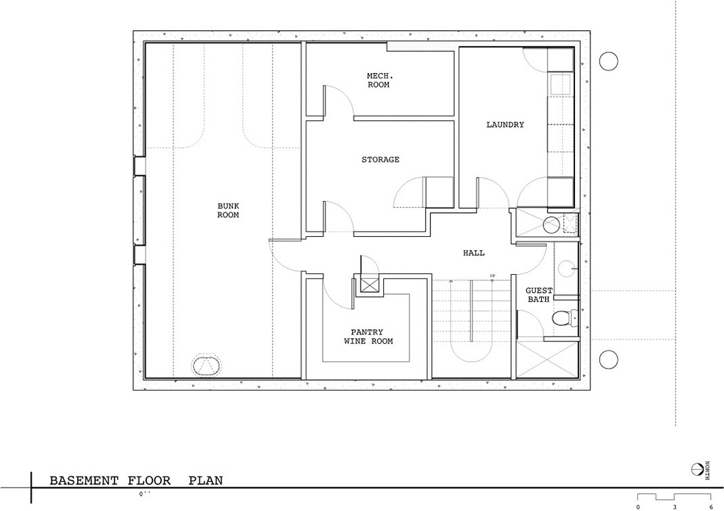 Basement floor plan lake union floating home seattle by for Seattle house plans