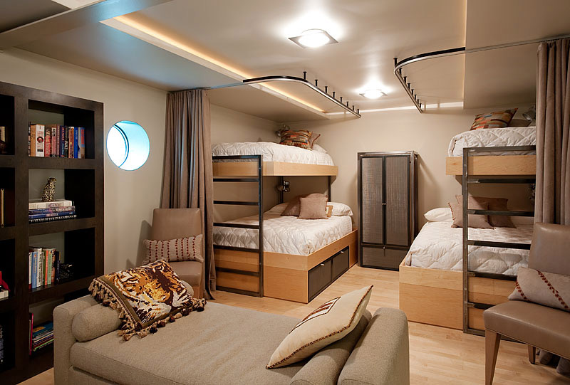 Bedroom Bunk Beds Lake Union Floating Home Seattle By