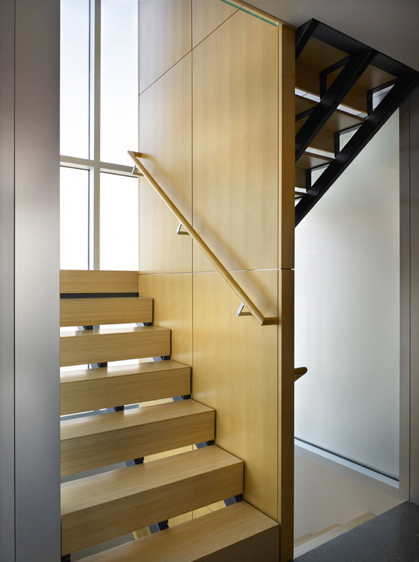 Stairs, Lake Union Floating Home, Seattle by Vandeventer + Carlander Architects