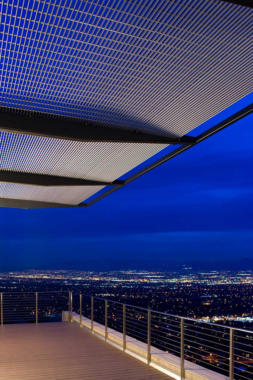 Balcony, View over Salt Lake City, H-House, Salt Lake City by Axis Architects