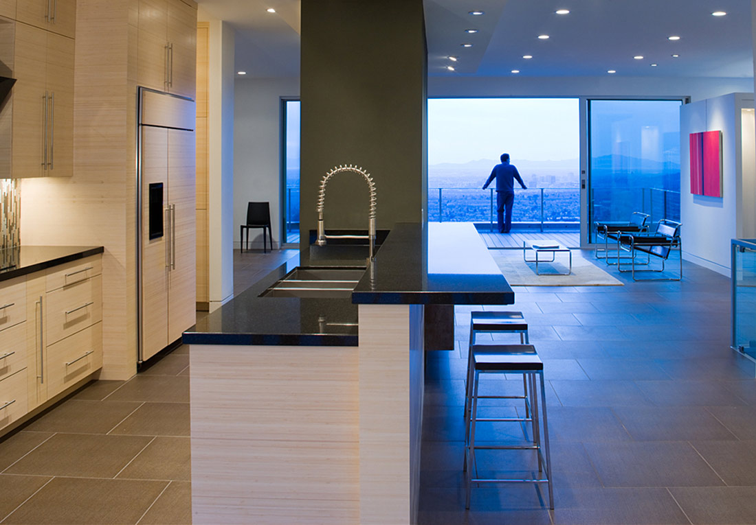 Kitchen, H-House, Salt Lake City by Axis Architects