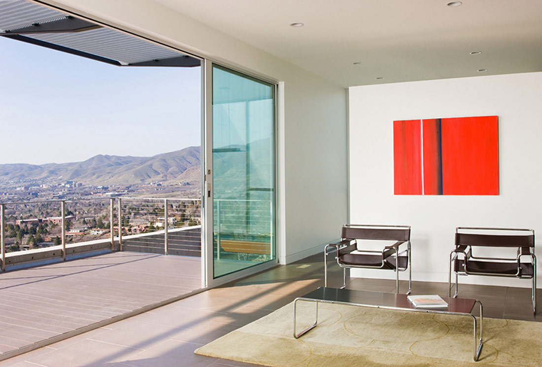Patio Doors, Balcony, View, H-House, Salt Lake City by Axis Architects