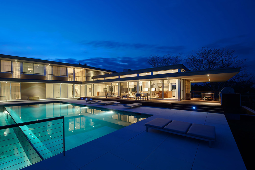 Swimming Pool, House by the Pond, New York by Stelle Architects