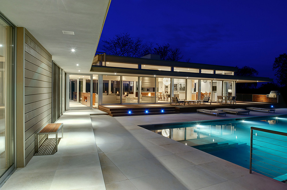 Terrace, Swimming Pool, House by the Pond, New York by Stelle Architects