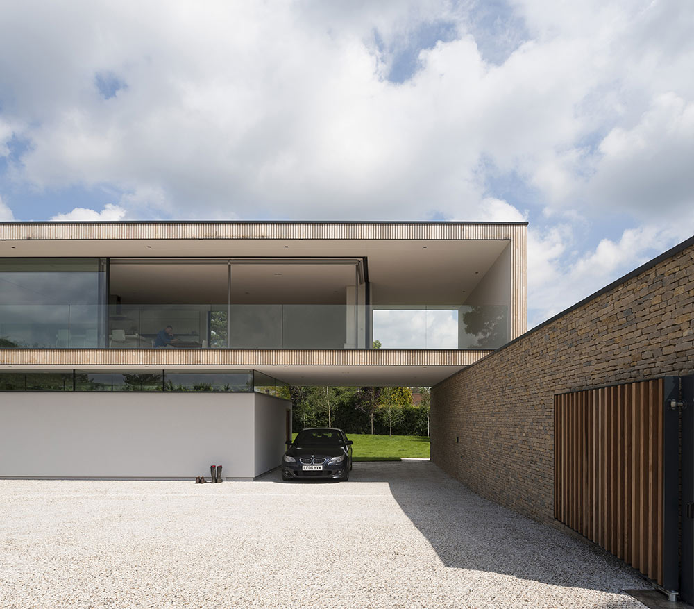Car Port, Hurst House, Buckinghamshire by John Pardey Architects + Strom Architects