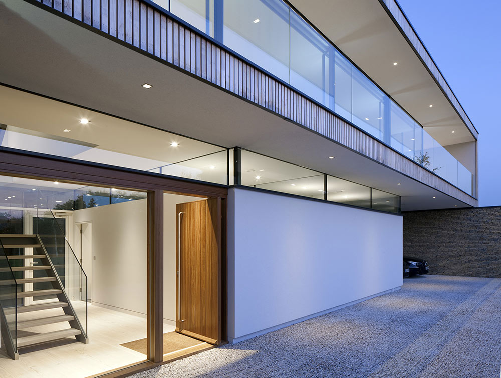 Entrance, Hurst House, Buckinghamshire by John Pardey Architects + Strom Architects
