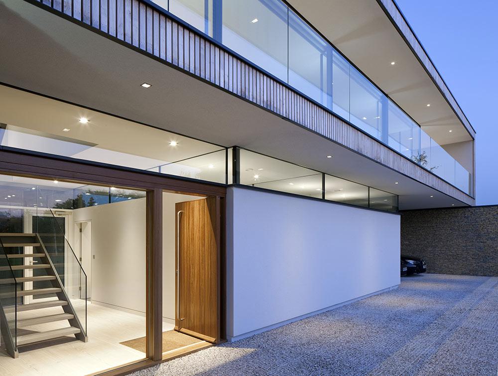 Entrance, Hurst House, Buckinghamshire by John Pardey Architects + Strom Architects