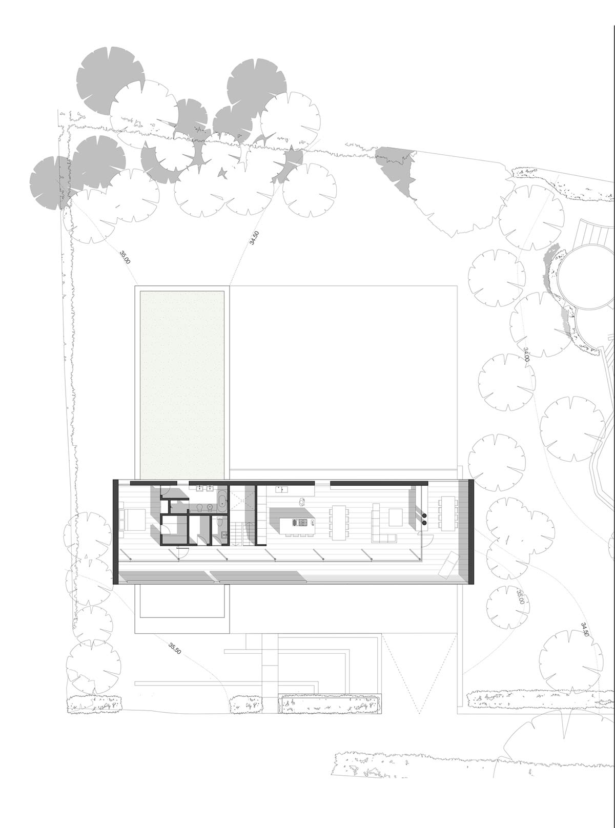 Plan hurst house buckinghamshire by john pardey architects strom