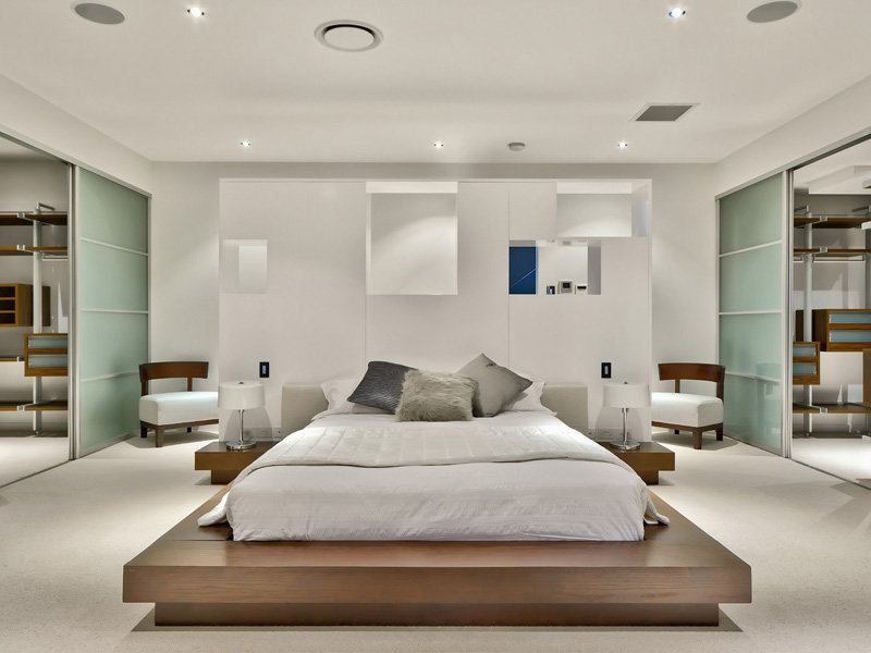 Bedroom, Luxury Home on Brisbane River