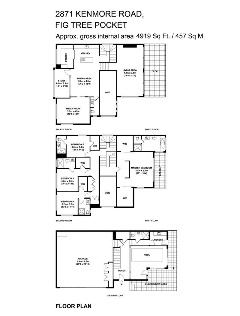 Floor Plan, Luxury Home on Brisbane River