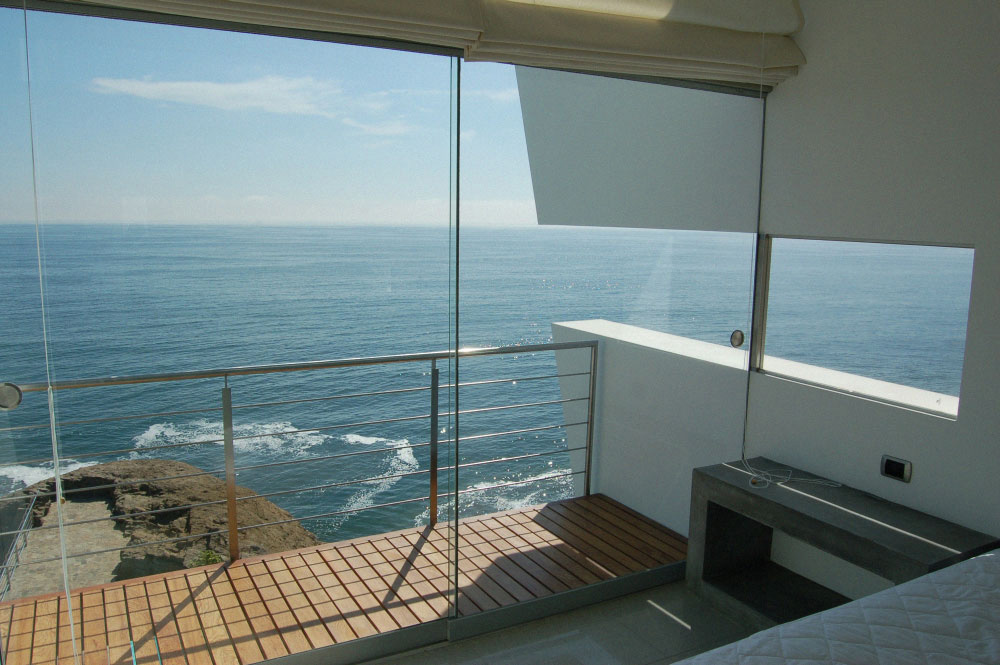 Balcony, Sea Views, Lefevre House, Peru by Longhi Architects