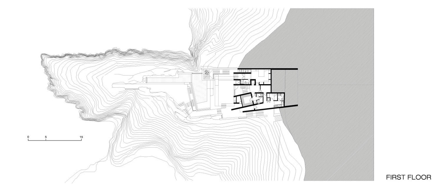First Floor Plan, Lefevre House, Peru by Longhi Architects