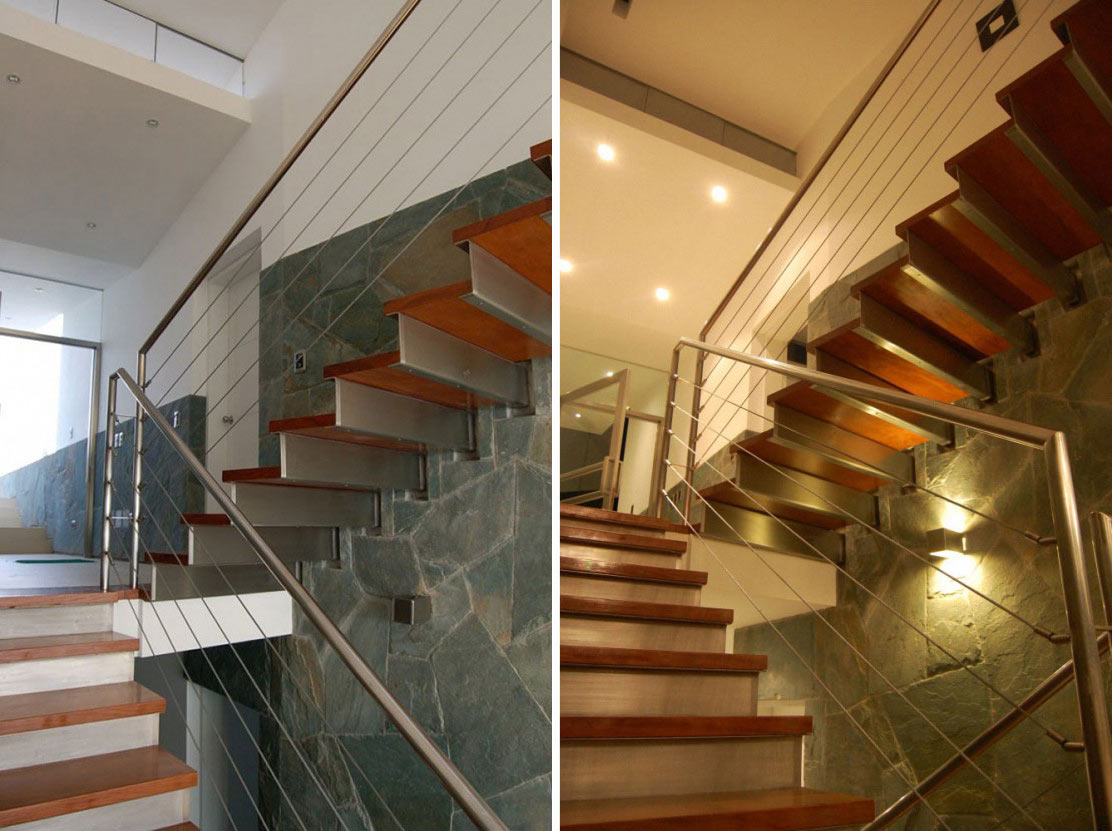 Mettle & Wood Stairs, Lefevre House, Peru by Longhi Architects