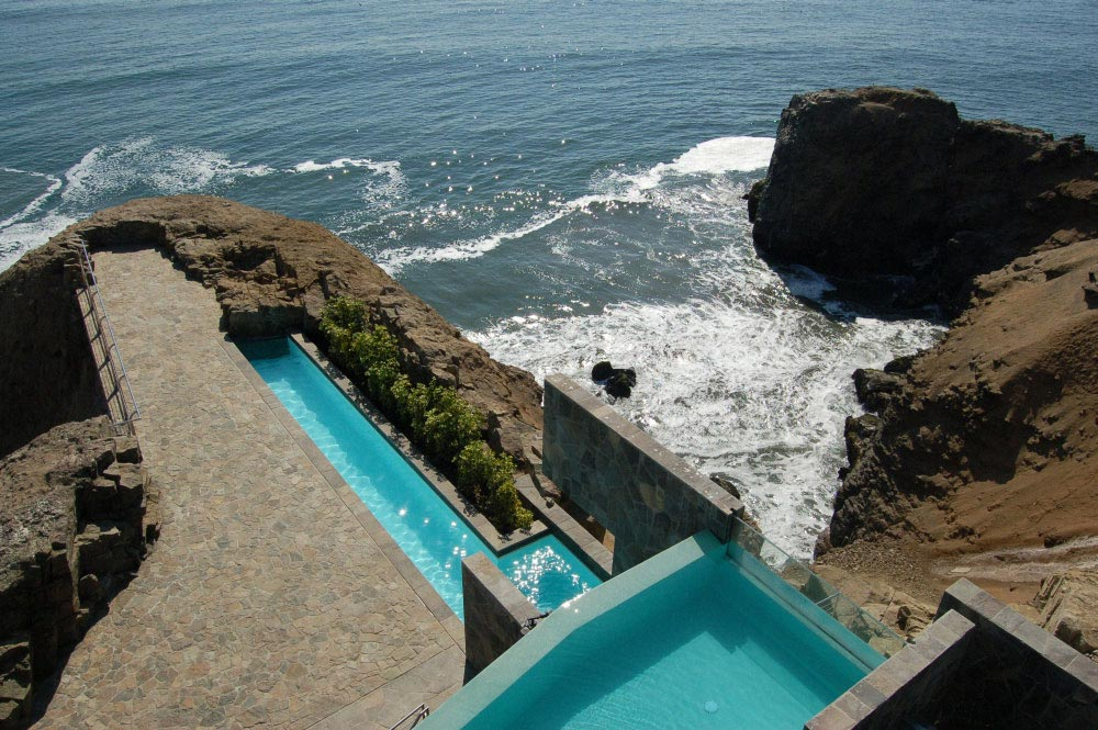Outdoor Pool, Terrace, Lefevre House, Peru by Longhi Architects
