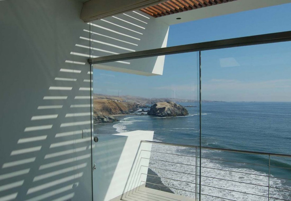 Sea Views, Balcony, Lefevre House, Peru by Longhi Architects
