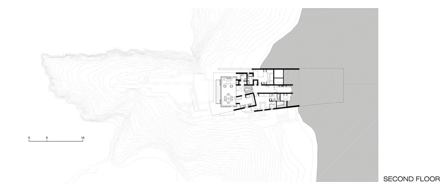 Second Floor Plan, Lefevre House, Peru by Longhi Architects
