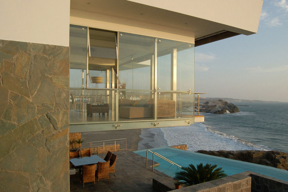 Terrace, Infinity Pool, Sea Views, Lefevre House, Peru by Longhi Architects
