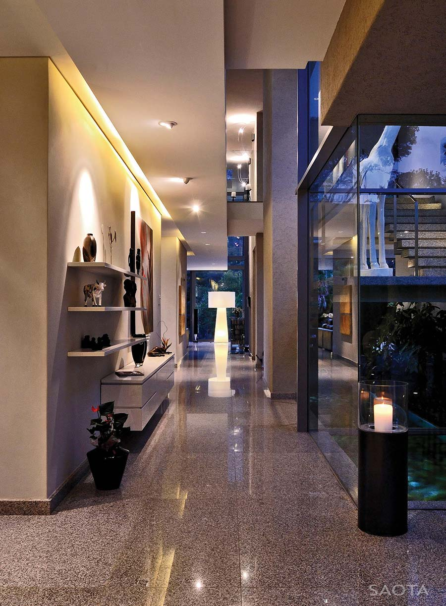 Hall, Glass Walls, Montrose House, Cape Town by SAOTA