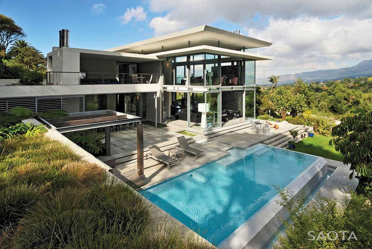 Pool, Terrace, Montrose House, Cape Town by SAOTA