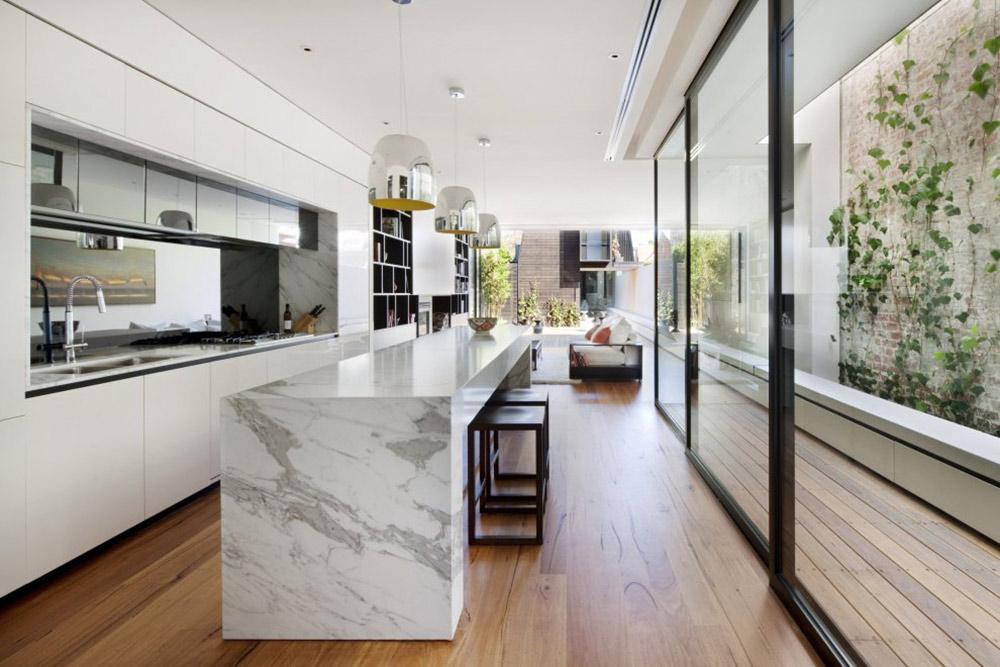 Kitchen, Glass Walls, Nicholson Residence by Matt Gibson Architecture + Design