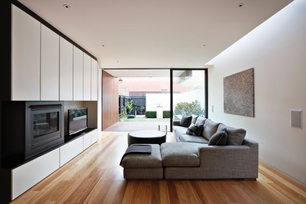 Contemporary Fireplace, Living Space, Nicholson Residence by Matt Gibson Architecture + Design