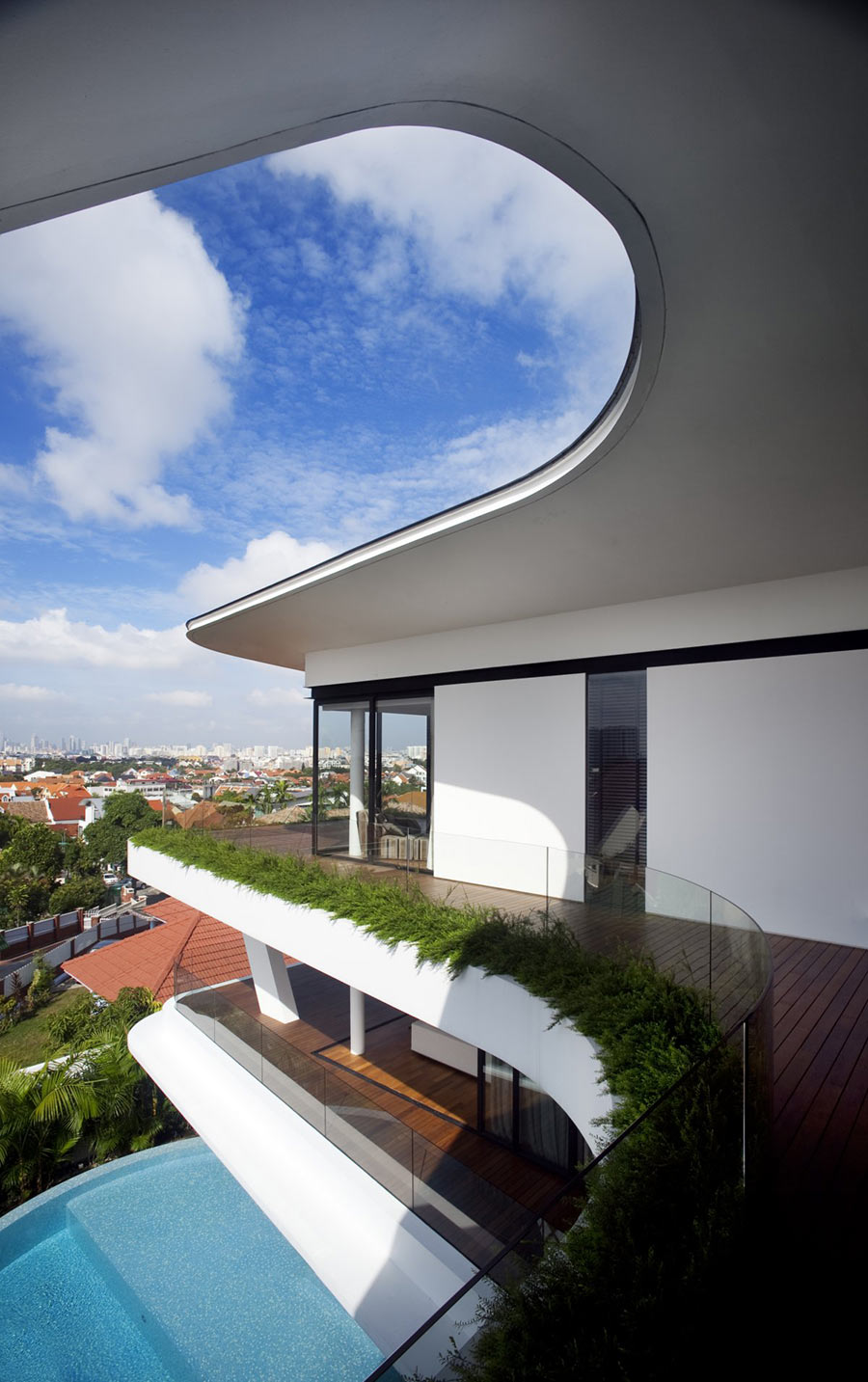 Balcony, Ninety7 @ Siglap Road House by Aamer Architects