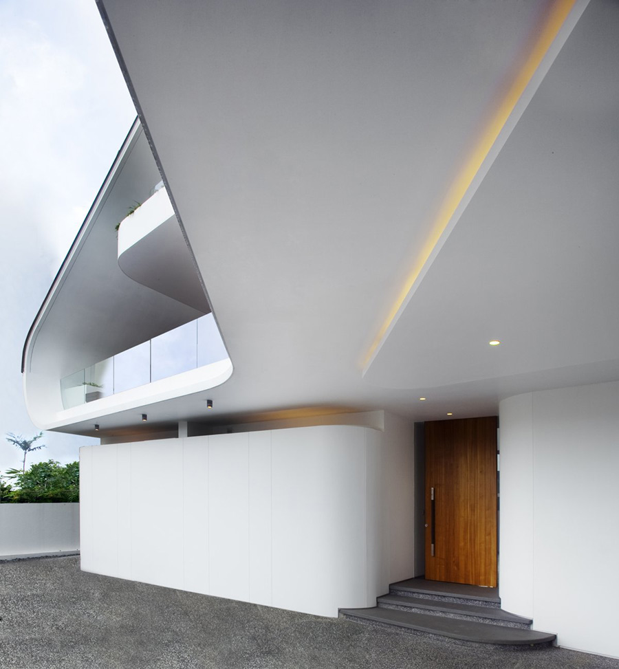 Entrance, Ninety7 @ Siglap Road House by Aamer Architects