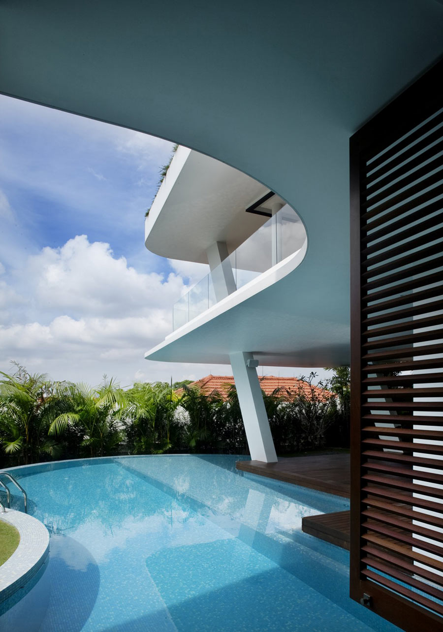 Outdoor Pool, Ninety7 @ Siglap Road House by Aamer Architects