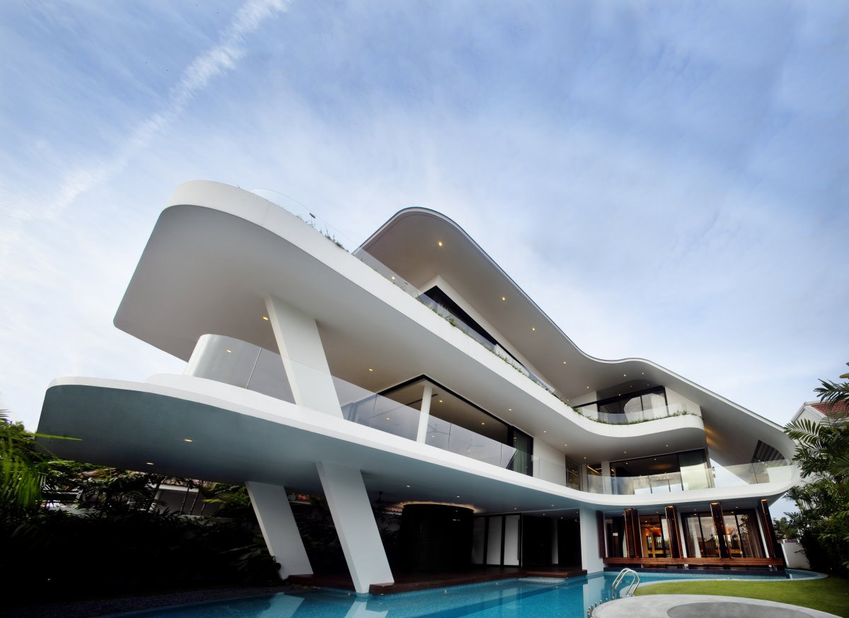 Pool, Ninety7 @ Siglap Road House by Aamer Architects