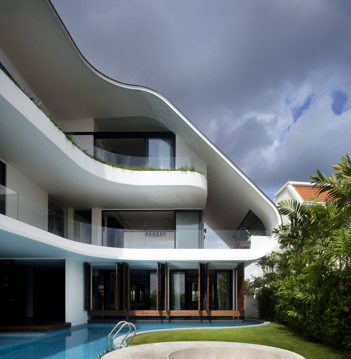 Pool, Garden, Ninety7 @ Siglap Road House by Aamer Architects