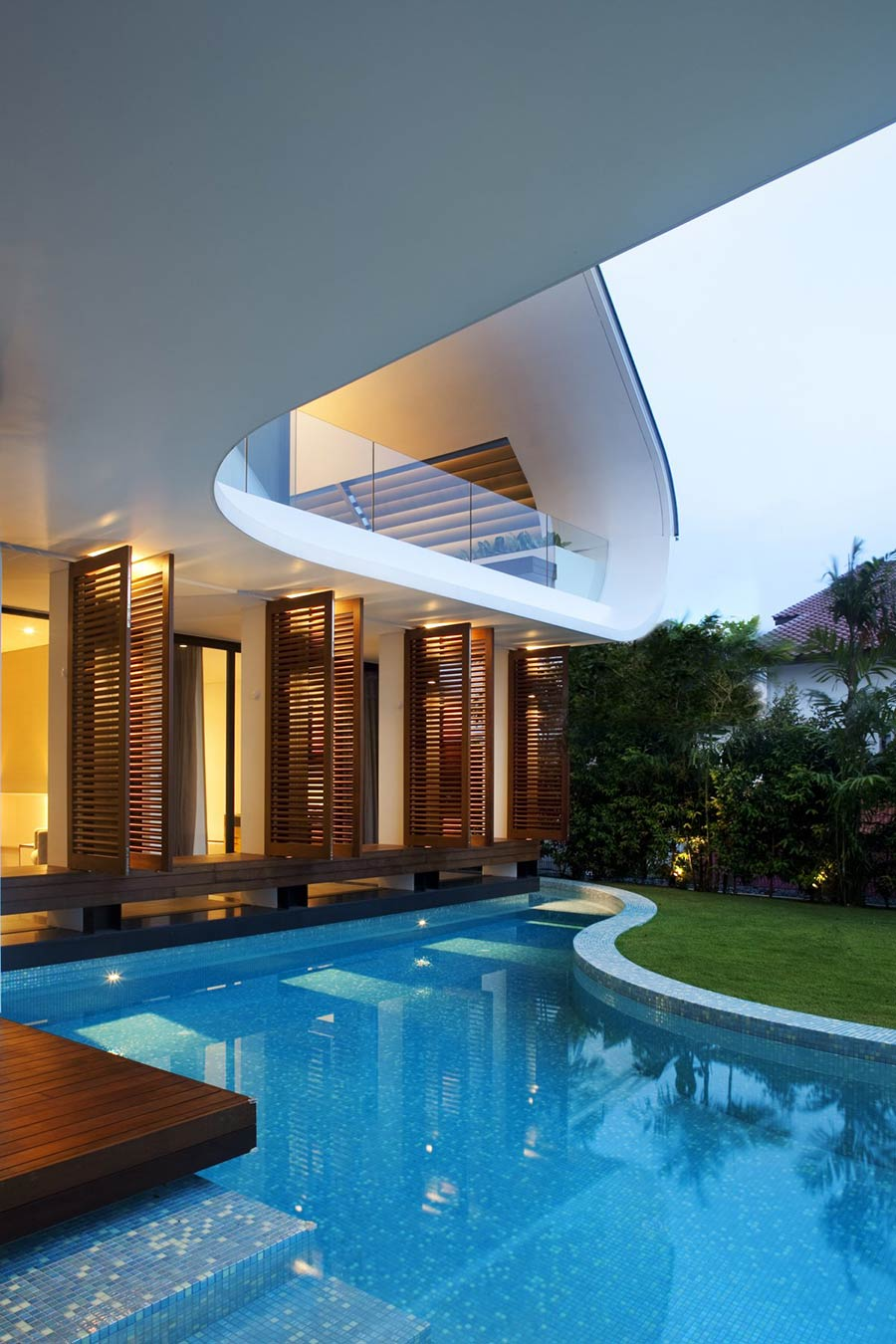 Pool Lights, Ninety7 @ Siglap Road House by Aamer Architects