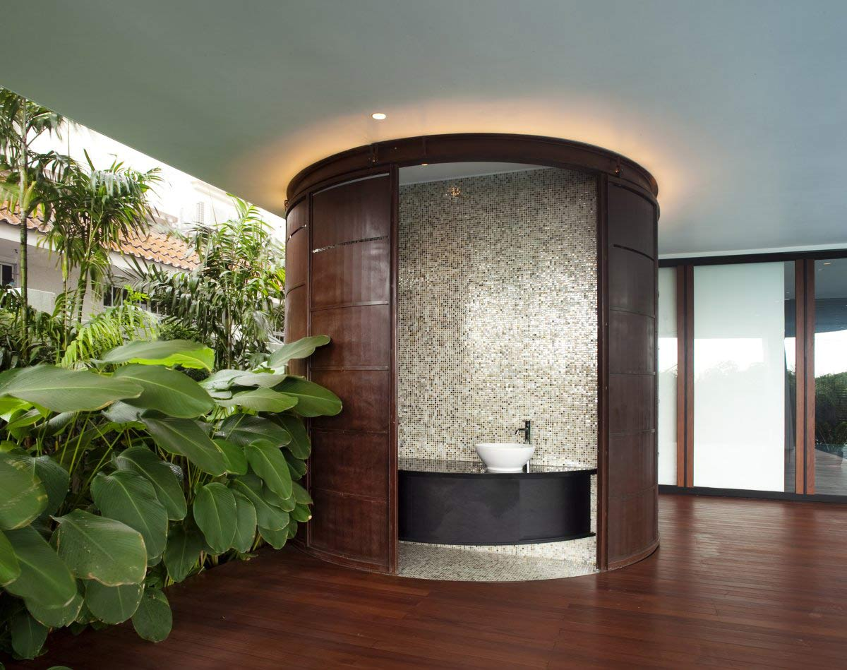 Powder Room, Ninety7 @ Siglap Road House by Aamer Architects