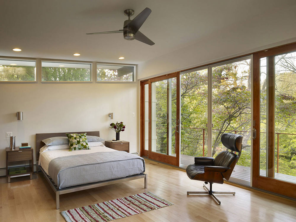 Bedroom, Seidenberg House, Pennsylvania by Metcalfe Architecture & Design