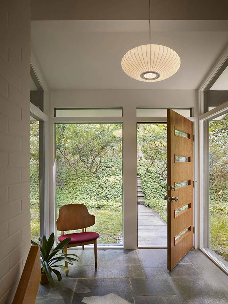 Entrance, Seidenberg House, Pennsylvania by Metcalfe Architecture & Design