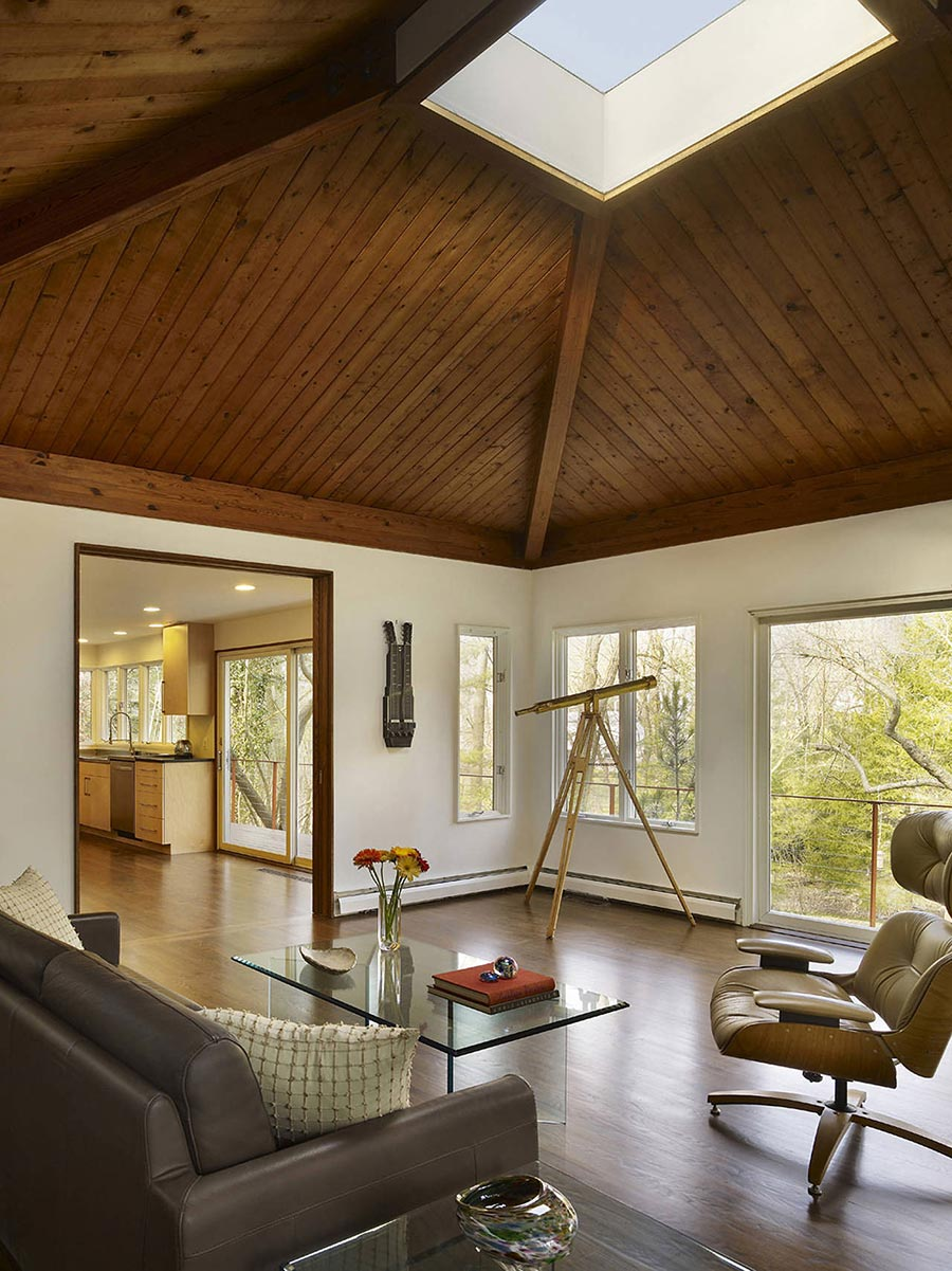 Living Room, Seidenberg House, Pennsylvania by Metcalfe Architecture & Design